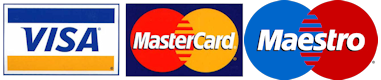 Pay with Maestro, Credit card or with cash